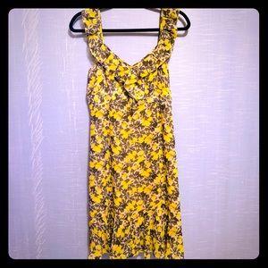 Ann Taylor Loft ruffle fit and flare sundress